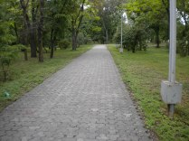 Large sidewalks for the many walkers