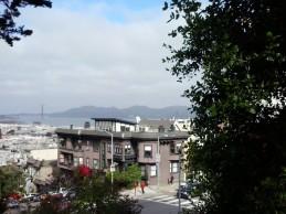 toward the Golden Gate Bridge from Lombard