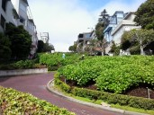 Looking west after walking down Lombard Street