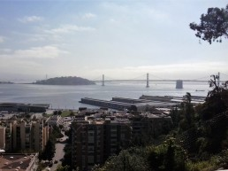 the Bay Bridge from Coit Tower