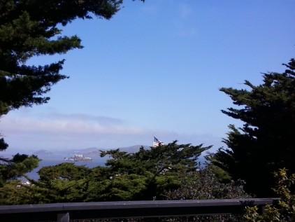 Alcatraz Island from Coit Tower